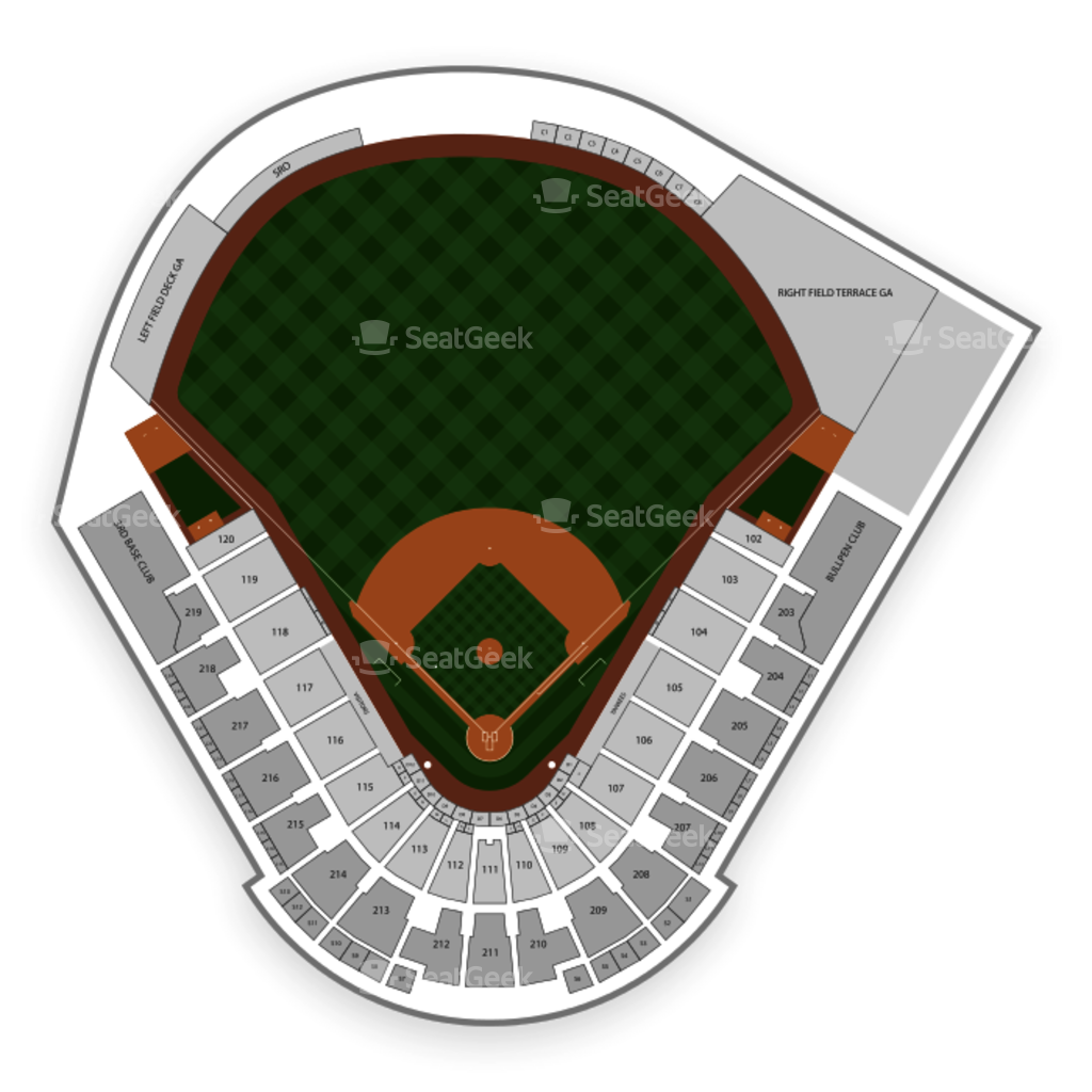 Mlb Spring Training Locations Florida Map.George M Steinbrenner Field Seating Chart Map Seatgeek