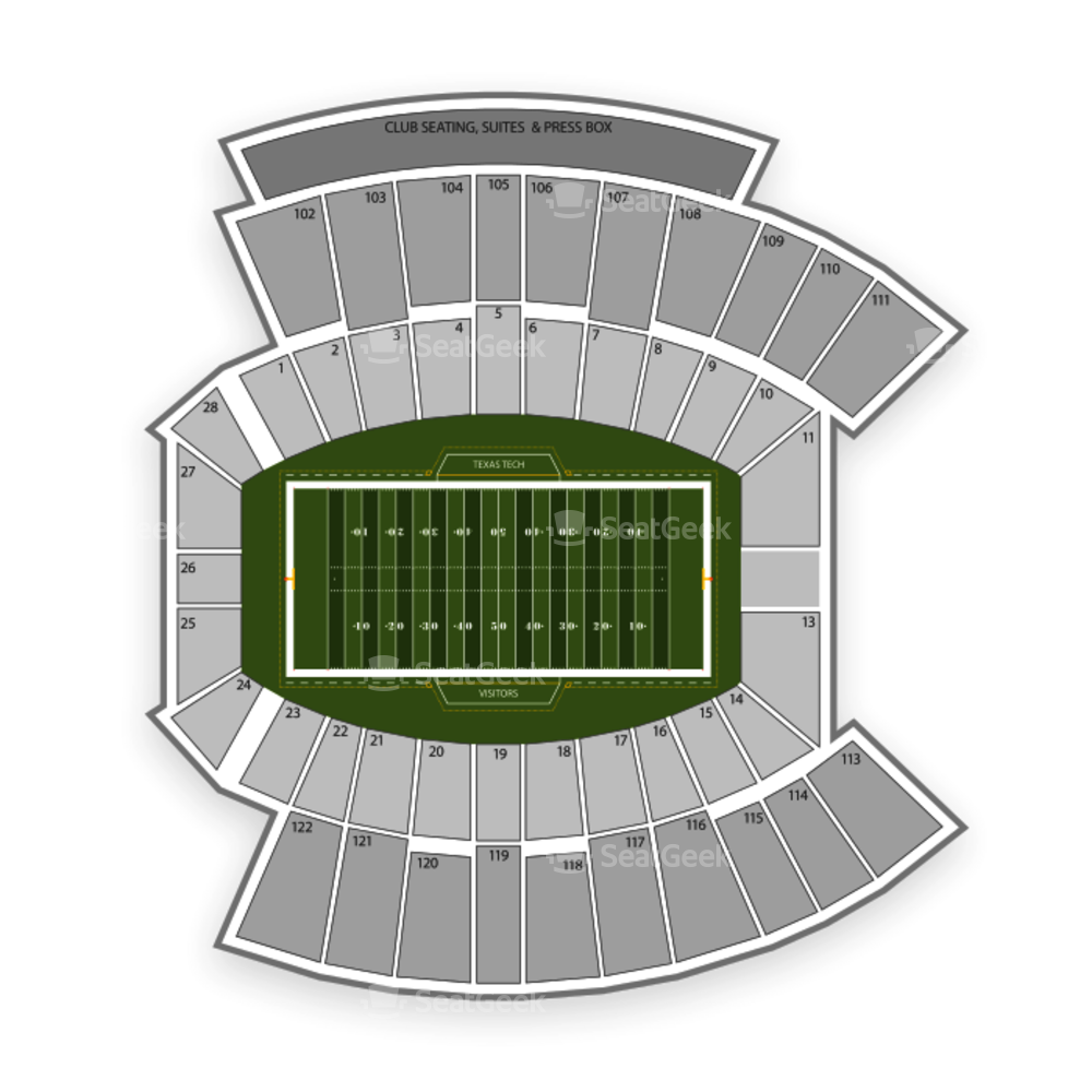 Texas Tech Red Raiders Football Seating Chart