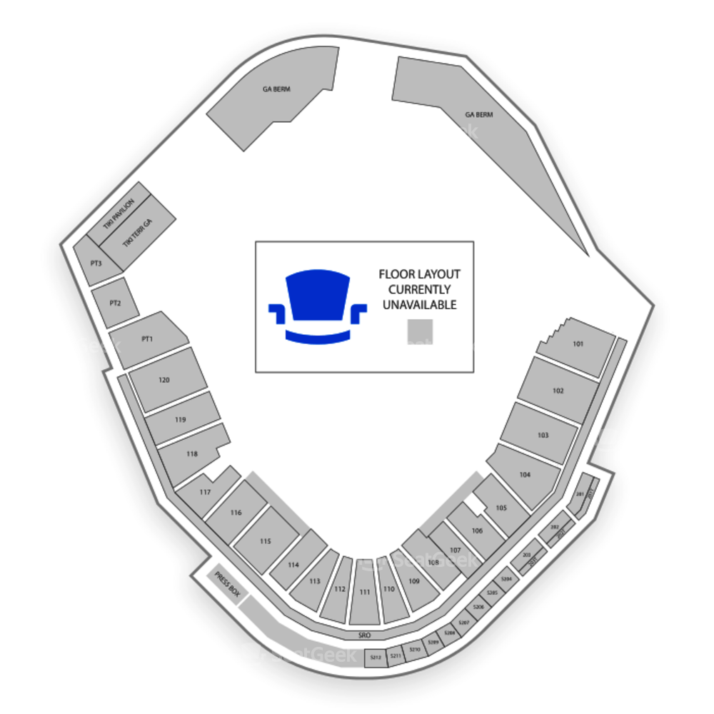 Spectrum Field Seating Chart Concert