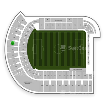 Portland Timbers at Providence Park Section 206 View