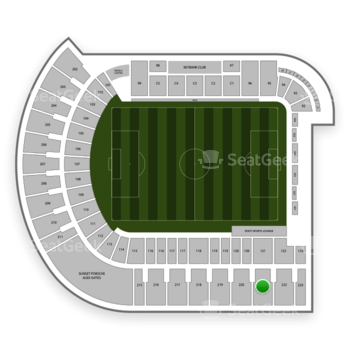 Portland Timbers at Providence Park Section 221 View