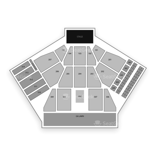 Huntington Bank Pavilion at Northerly Island Seating Chart Concert