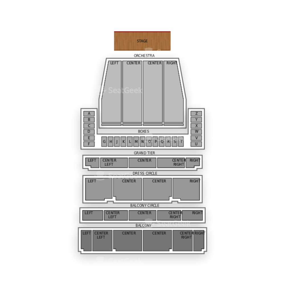 War Memorial Opera House Seating Chart Dance Performance Tour