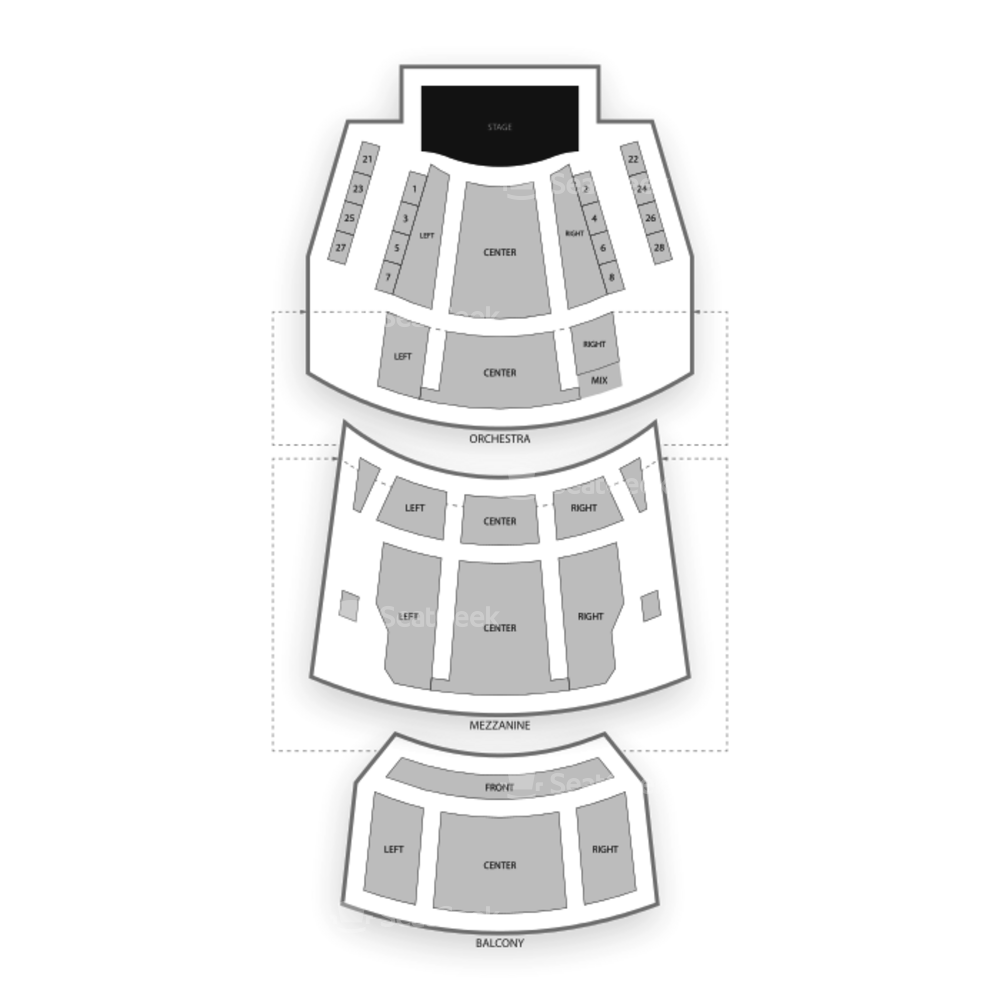 Cutler Majestic Theatre Seating Chart Dance Performance Tour
