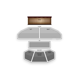 House of Blues - Houston Seating Chart Dance Performance Tour