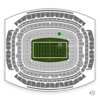 Houston Texans at NRG Stadium Section 129 View
