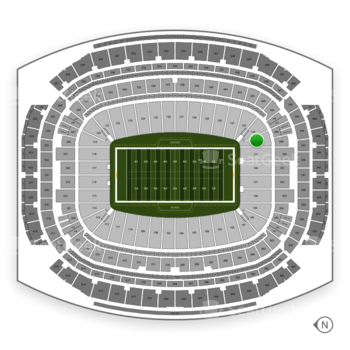 Houston Texans at NRG Stadium Section 134 View