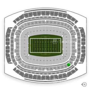 Houston Texans at NRG Stadium Section 303 View