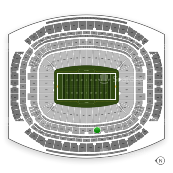 Houston Texans at NRG Stadium Section 308 View