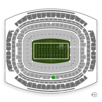 Houston Texans at NRG Stadium Section 309 View