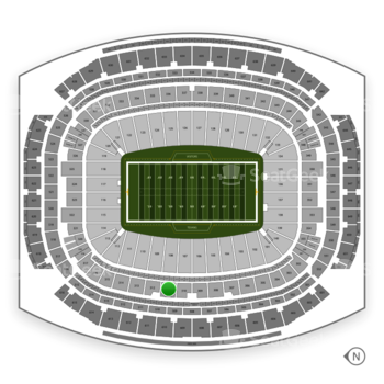 Houston Texans at NRG Stadium Section 311 View