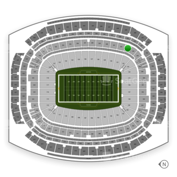 Houston Texans at NRG Stadium Section 343 View