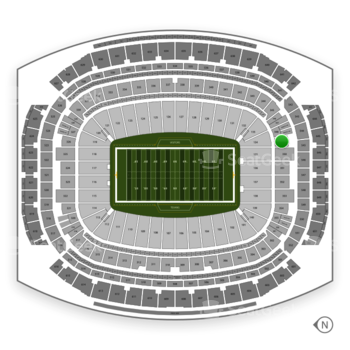 Houston Texans at NRG Stadium Section 349 View