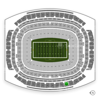 Houston Texans at NRG Stadium Section 605 View