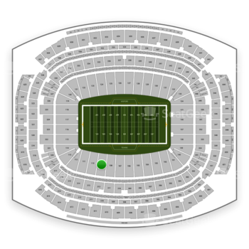 Houston Texans at NRG Stadium Section 109 View