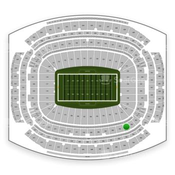 Houston Texans at NRG Stadium Section 304 View