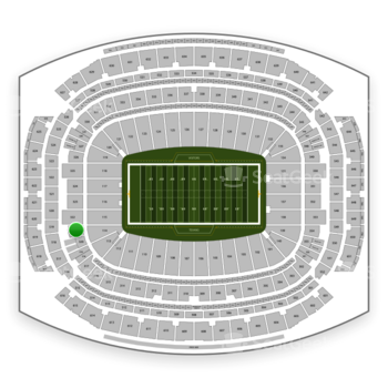 Houston Texans at NRG Stadium Section 321 View