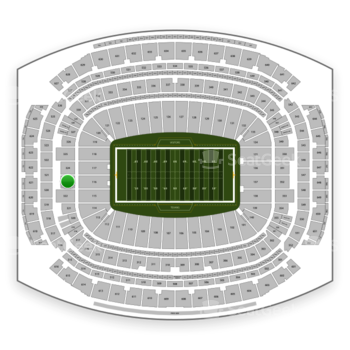 Houston Texans at NRG Stadium Section 323 View
