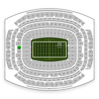 Houston Texans at NRG Stadium Section 324 View