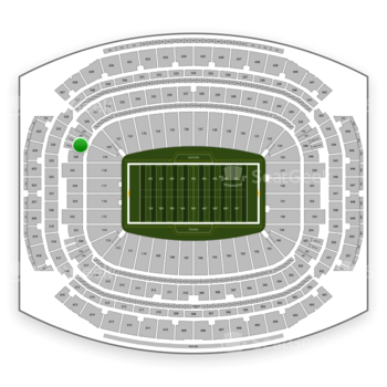 Houston Texans at NRG Stadium Section 327 View