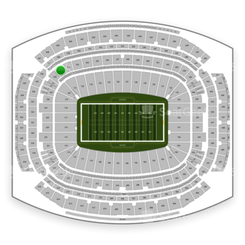 Houston Texans at NRG Stadium Section 331 View