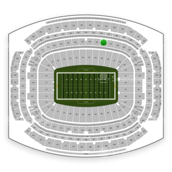 Houston Texans at NRG Stadium Section 340 View