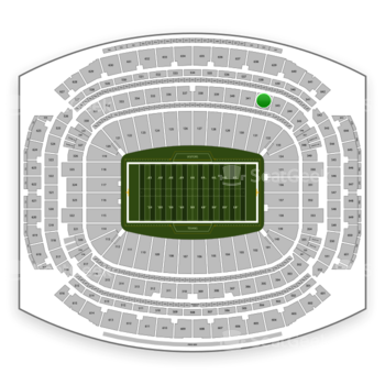 Houston Texans at NRG Stadium Section 342 View