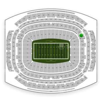 Houston Texans at NRG Stadium Section 347 View