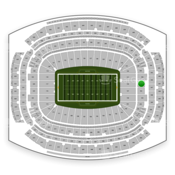Houston Texans at NRG Stadium Section 351 View