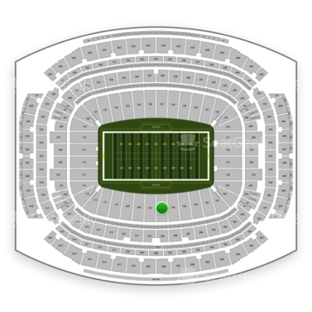 Houston Texans at NRG Stadium Section 106 View