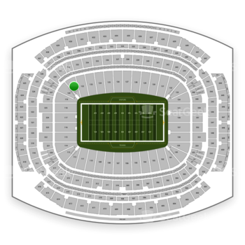 Houston Texans at NRG Stadium Section 121 View