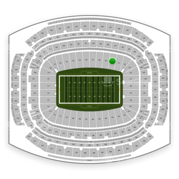 Houston Texans at NRG Stadium Section 130 View