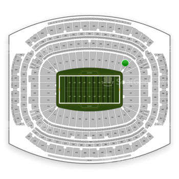 Houston Texans at NRG Stadium Section 132 View