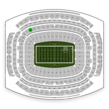 Houston Texans at NRG Stadium Section 332 View