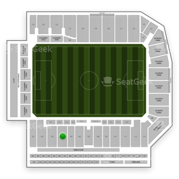 Sporting Kansas City at Children's Mercy Park Section 104 View