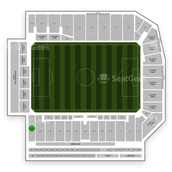 Sporting Kansas City at Children's Mercy Park Section 101 View