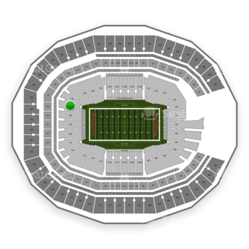 Mercedes benz stadium section 121 seat views seatgeek for Mercedes benz stadium location