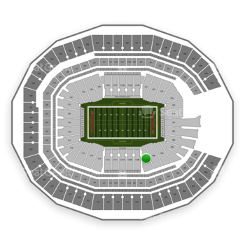 NFL at Mercedes-Benz Stadium Section 107 View