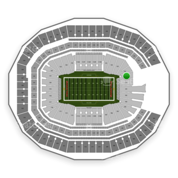 NFL at Mercedes-Benz Stadium Section 135 View