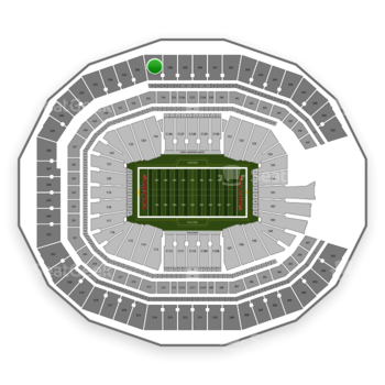 Mercedes benz stadium section 337 seat views seatgeek for Mercedes benz stadium calendar