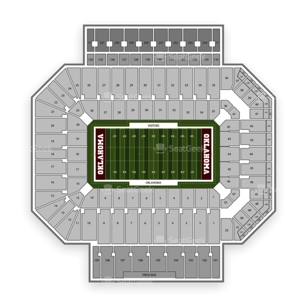 Oklahoma Sooners Football Seating Chart
