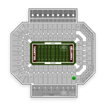 Oklahoma Sooners Football at Gaylord Family-Oklahoma Memorial Stadium Section 1 View