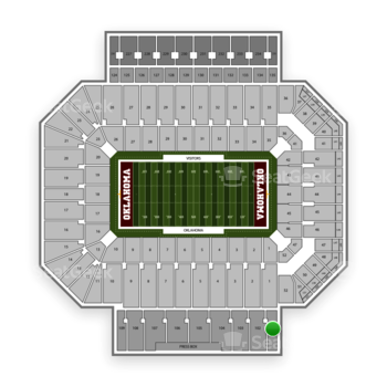 Oklahoma Sooners Football at Gaylord Family-Oklahoma Memorial Stadium Section 101 View