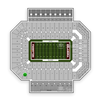 Oklahoma Sooners Football at Gaylord Family-Oklahoma Memorial Stadium Section 11 View