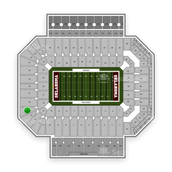 Oklahoma Sooners Football at Gaylord Family-Oklahoma Memorial Stadium Section 15 View