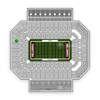 Oklahoma Sooners Football at Gaylord Family-Oklahoma Memorial Stadium Section 20 View