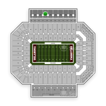 Oklahoma Sooners Football at Gaylord Family-Oklahoma Memorial Stadium Section 229 View