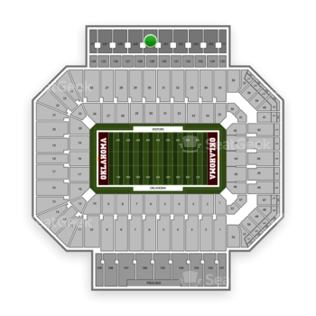 Oklahoma Sooners Football at Gaylord Family-Oklahoma Memorial Stadium Section 230 View