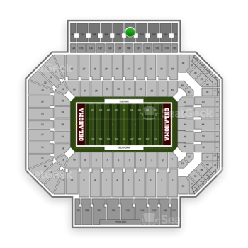 Oklahoma Sooners Football at Gaylord Family-Oklahoma Memorial Stadium Section 231 View