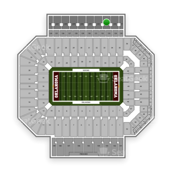 Oklahoma Sooners Football at Gaylord Family-Oklahoma Memorial Stadium Section 233 View